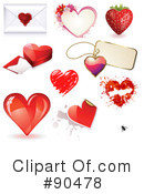 Royalty-Free (RF) hearts Clipart Illustration #90478