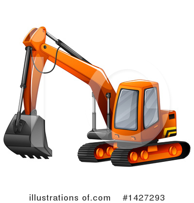 Excavator Clipart #1427293 by Graphics RF
