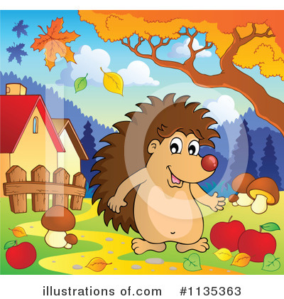 Hedgehog Clipart #1135363 by visekart