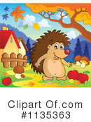 Royalty-Free (RF) hedgehog Clipart Illustration #1135363