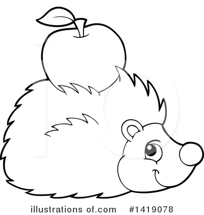 Hedgehog Clipart #1419078 by visekart