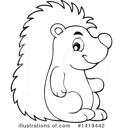 Hedgehog Clipart #1419442 by visekart