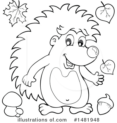 Hedgehog Clipart #1481948 by visekart