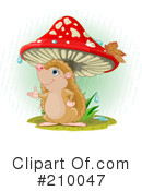 Royalty-Free (RF) hedgehog Clipart Illustration #210047