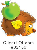 Royalty-Free (RF) hedgehog Clipart Illustration #32166