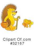 Royalty-Free (RF) hedgehog Clipart Illustration #32167