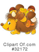 Royalty-Free (RF) hedgehog Clipart Illustration #32172