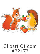 Royalty-Free (RF) hedgehog Clipart Illustration #32173