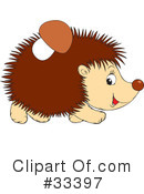 Royalty-Free (RF) hedgehog Clipart Illustration #33397