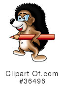 Royalty-Free (RF) hedgehog Clipart Illustration #36496