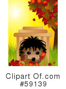 Royalty-Free (RF) hedgehog Clipart Illustration #59139