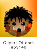 Royalty-Free (RF) hedgehog Clipart Illustration #59140