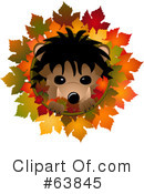 Royalty-Free (RF) hedgehog Clipart Illustration #63845