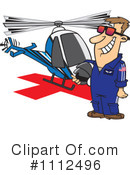 Royalty-Free (RF) Helicopter Clipart Illustration #1112496