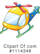 Royalty-Free (RF) Helicopter Clipart Illustration #1114348