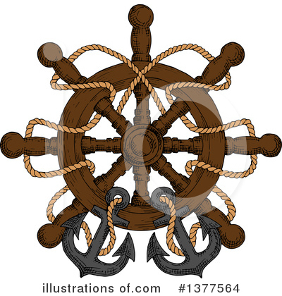 Anchor Clipart #1377564 by Vector Tradition SM