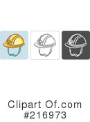 Royalty-Free (RF) Helmet Clipart Illustration #216973