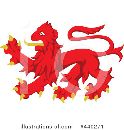 Royalty-Free (RF) Heraldic Lion Clipart Illustration by dero - Stock Sample #440271