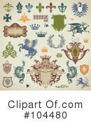 Royalty-Free (RF) Heraldry Clipart Illustration #104480