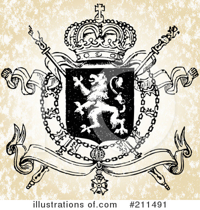 Royalty-Free (RF) Heraldry Clipart Illustration by BestVector - Stock Sample #211491