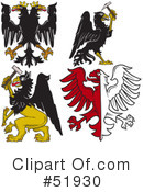Royalty-Free (RF) Heraldry Clipart Illustration #51930
