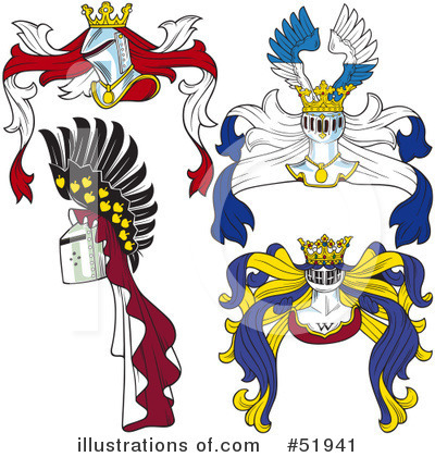 Royalty-Free (RF) Heraldry Clipart Illustration by dero - Stock Sample #51941