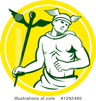 Royalty-Free (RF) Hermes Clipart Illustration by patrimonio - Stock Sample #1292480