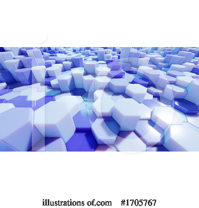 Royalty-Free (RF) Hexagons Clipart Illustration by Steve Young - Stock Sample #1705767