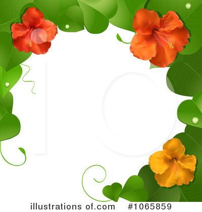 Royalty-Free (RF) Hibiscus Clipart Illustration by elaineitalia - Stock Sample #1065859