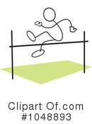 Royalty-Free (RF) High Jump Clipart Illustration #1048893