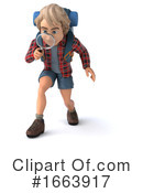 Hiker Clipart #1663917 by Julos