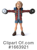 Hiker Clipart #1663921 by Julos