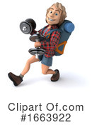 Hiker Clipart #1663922 by Julos