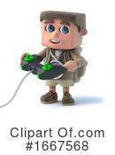 Hiker Clipart #1667568 by Steve Young