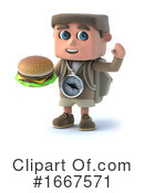 Hiker Clipart #1667571 by Steve Young