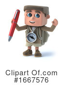 Hiker Clipart #1667576 by Steve Young