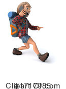 Hiker Clipart #1717985 by Julos