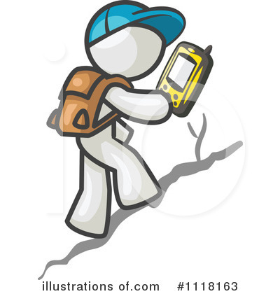 White Design Mascot Clipart #1118163 by Leo Blanchette