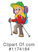 Royalty-Free (RF) Hiking Clipart Illustration #1174184