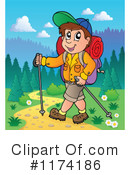 Royalty-Free (RF) Hiking Clipart Illustration #1174186