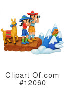Royalty-Free (RF) hiking Clipart Illustration #12060