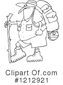 Royalty-Free (RF) Hiking Clipart Illustration #1212921