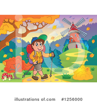 Hiking Clipart #1256000 by visekart