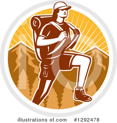 Hiking Clipart #1292478 by patrimonio