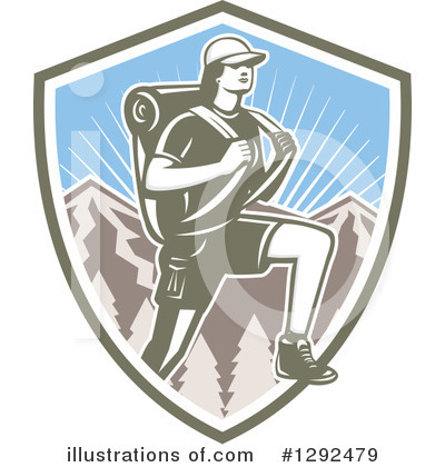 Hiking Clipart #1292479 by patrimonio