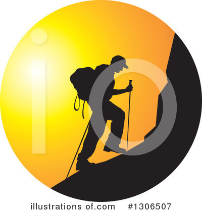 Climbing Clipart #1306507 by Lal Perera