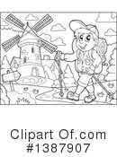 Royalty-Free (RF) Hiking Clipart Illustration #1387907