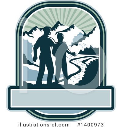 Hiking Clipart #1400973 by patrimonio