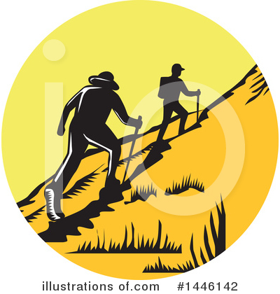 Hiking Clipart #1446142 by patrimonio