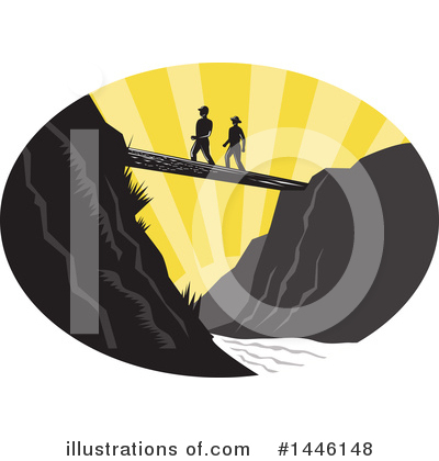 Hiking Clipart #1446148 by patrimonio